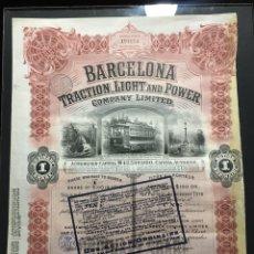 Colecionismo Ações Espanholas: TITULO BARCELONA TRACTION LIGHT AND POWER. Lote 222280238