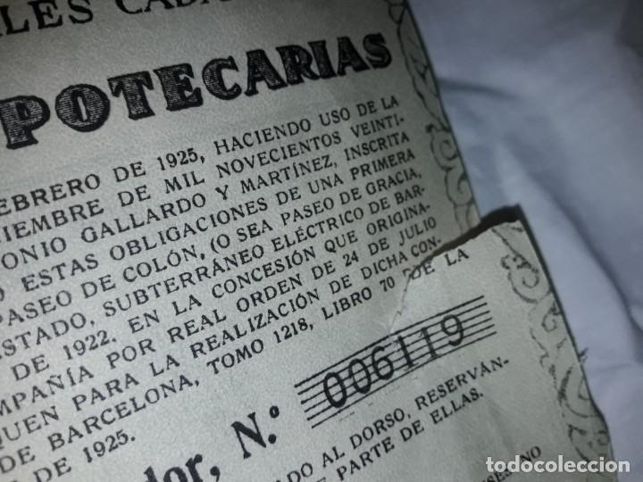 Coleccionismo Acciones Españolas: Gran Metropolitano de Barcelona obligación 006119 año 1925 - Foto 6 - 223874703