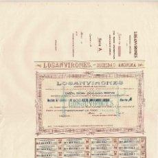 Coleccionismo Acciones Españolas: ACCIÓN.- LOSANVIRONES. S.A. SOCIEDAD DE ELECTRICIDAD. MADRID 1910.. Lote 223921445