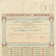 Coleccionismo Acciones Españolas: ACCIÓN.- CONTINENTAL EXPRESS. MADRID 1903.. Lote 223921651