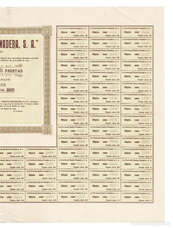 Coleccionismo Acciones Españolas: ACCIÓN, LA PROVINCIAL HARINO PANADERA, S.A. GETAFE.(MADRID). 1949. - Foto 3 - 223922232