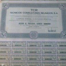 Coleccionismo Acciones Españolas: ACCION TECNICOS CONSULTORES REUNIDOS MADRID 1972 1000 PESETAS. Lote 225312510
