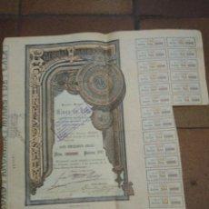 Coleccionismo Acciones Españolas: ACCIÓN MINAS DE CALA, DOMICILIADA EN BILBAO EN 1901.. Lote 226276583