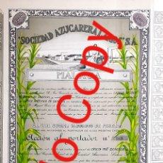 Coleccionismo Acciones Españolas: ACCION AZUCARERA LARIOS S.A. MALAGA 1944. Lote 227692965