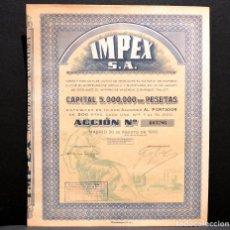 Coleccionismo Acciones Españolas: ACCION ESPAÑOLA IMPEX MADRID 1939. Lote 229528790