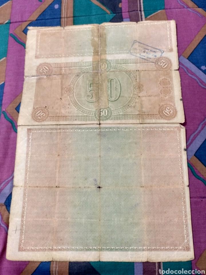 Coleccionismo Acciones Españolas: 1911 COMPAÑIA DE LOS FERROCARRILES DE MALLORCA RARA OBLIGACION 50 PTAS. CON 35 CUPONES - Foto 2 - 232133395