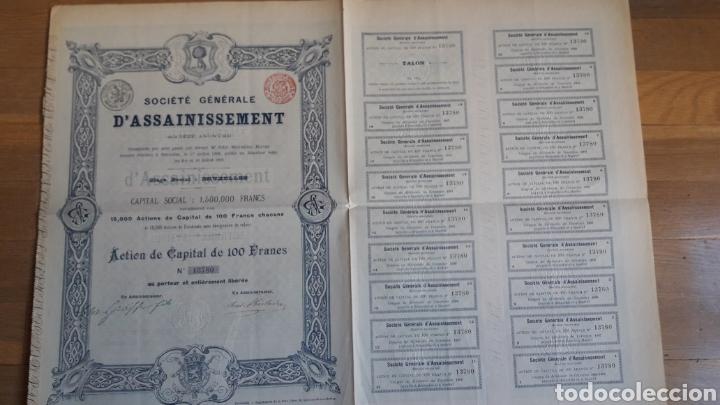 Coleccionismo Acciones Españolas: MADRID: SOCIEDAD GENERAL DE SANEAMIENTO (1895) - Foto 2 - 252236970