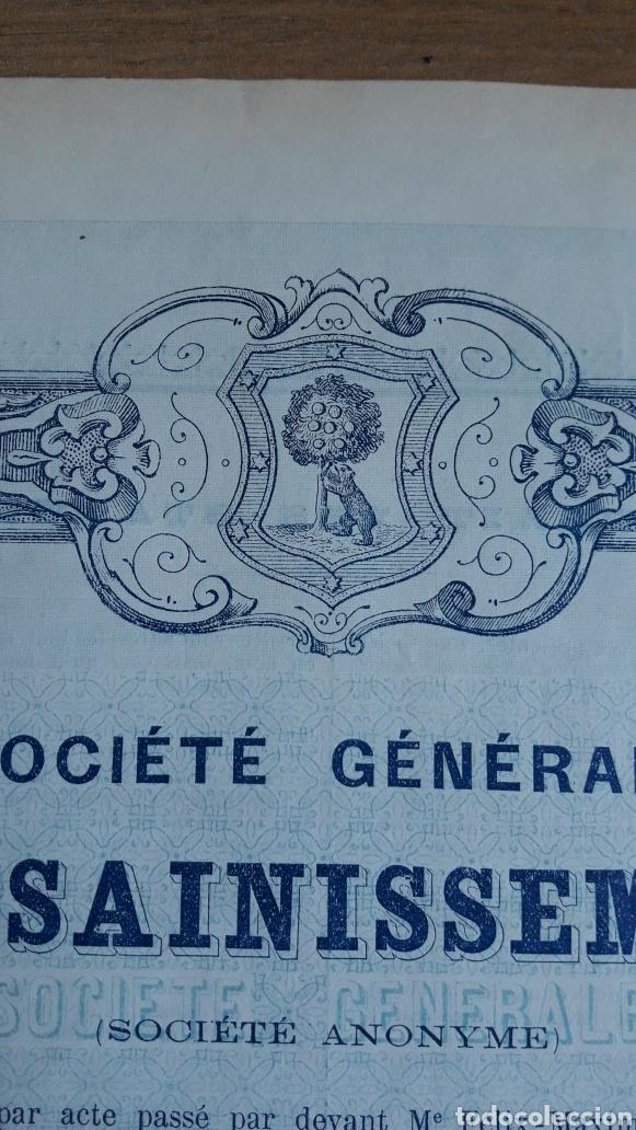 Coleccionismo Acciones Españolas: MADRID: SOCIEDAD GENERAL DE SANEAMIENTO (1895) - Foto 3 - 252236970