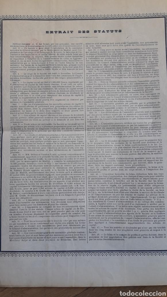 Coleccionismo Acciones Españolas: MADRID: SOCIEDAD GENERAL DE SANEAMIENTO (1895) - Foto 4 - 252236970