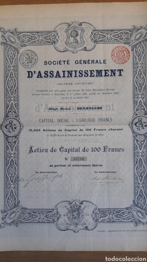 MADRID: SOCIEDAD GENERAL DE SANEAMIENTO (1895) (Coleccionismo - Acciones Españolas)