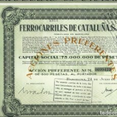 Collectionnisme Actions Espagne: FERROCARRILES DE CATALUÑA S. A.. Lote 232642405
