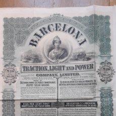 Coleccionismo Acciones Españolas: BARCELONA TRACTION, LIGHT AND POWER CO. LIMITED (VERDE). Lote 233263715