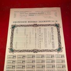 Coleccionismo Acciones Españolas: FRANCISCO BUFORT ALEMANY SA. ACCIÓN DE 500 PESETAS. Lote 234170835