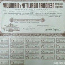 Collezionismo Azioni Spagnole: + MAQUINARIA Y METALURGIA ARAGONESA ACCÍON AÑO 1968 TZ. Lote 234173590
