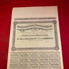 Coleccionismo Acciones Españolas: INMOBILIARIA SERPIS S.A. Lote 234180335