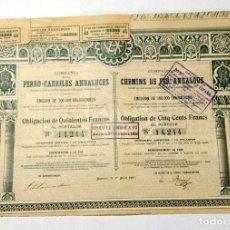 Coleccionismo Acciones Españolas: COMPAÑÍA DE LOS FERRO-CARRILES ANDALUCES. Lote 234754095