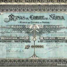 Collectionnisme Actions Espagne: MINAS DE COBRE DE NERVA. Lote 234966940