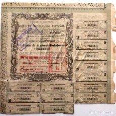 Coleccionismo Acciones Españolas: SOCIEDAD GENERAL DE CRÉDITO MOVILIARIO ESPAÑOL. Lote 235068160