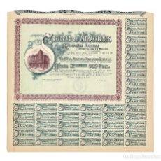 Coleccionismo Acciones Españolas: MADRID.- SOCIEDAD DE ATRACCIONES 1915.. Lote 235361045
