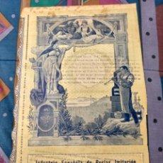 Coleccionismo Acciones Españolas: MUY RARA ACCIÓN 500 PTAS. 1915 INDUSTRIA ESPAÑOLA DE PERLAS IMITACIÓN MANACOR MALLORCA. Lote 23477855