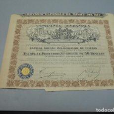 Coleccionismo Acciones Españolas: ACCIÓN. COMPAÑÍA ESPAÑOLA DE MINAS DEL RIF. 1935. MADRID.. Lote 235647390