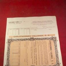 Coleccionismo Acciones Españolas: ACCIÓN VALLONGA, S.A. MADRID 1000 PTS. Lote 236115615