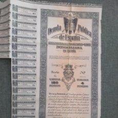 Colecionismo Ações Espanholas: ACCIONES TITULO DE DEUDA PUBLICA AÑO 1952. Lote 236564180