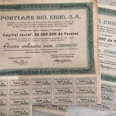 Coleccionismo Acciones Españolas: PORTLAND DEL EBRO SA. Lote 257443850