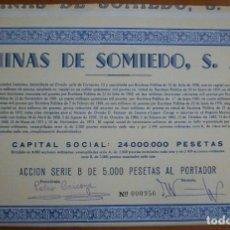 Coleccionismo Acciones Españolas: ASTURIAS. MINAS DE SOMIEDO S.A. 1973. Lote 237497495