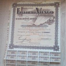 Coleccionismo Acciones Españolas: ACCIÓN ELECTRA DE VIESGO AÑO 1949 500PTAS.. Lote 240845830