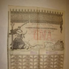 Collezionismo Azioni Spagnole: SOCIEDAD ESPAÑOLA DE AZUFRES-ACCION ANTIGUA ORIGINAL-AÑO 1883-BARCELONA-VER FOTOS-(K-1851). Lote 241785340