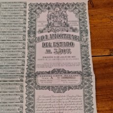 Coleccionismo Acciones Españolas: DEUDA AMORTIZABLE DEL ESTADO AL 3,5%, 1951. Lote 243299530