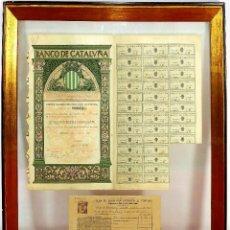 Coleccionismo Acciones Españolas: CONJUNTO DE ACCIONES DEL BANCO DE CATALUÑA. PAPEL IMPRESO. ESPAÑA. 1926-29. Lote 243363270