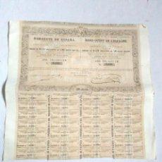 Coleccionismo Acciones Españolas: OBLIGACION COMPAÑIA DEL FERRO-CARRIL DE PALENCIA A PONFERRADA O DEL NOROESTE DE ESPAÑA S.A.1862. Lote 244531645