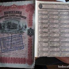 Coleccionismo Acciones Españolas: ACCIÓN BARCELONA TRACTION, LIGHT AND POWER. 1913. ELECTRICIDAD. VER DESCRIPCIÓN. Lote 245440075