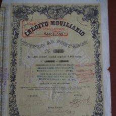 Coleccionismo Acciones Españolas: ACCIÓN CREDITO MOVILIARIO BARCELONÉS 1857 BANCA. Lote 245450770