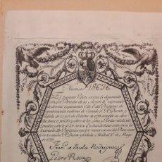 Coleccionismo Acciones Españolas: CARLOS IV: BILLETE / CÉDULA / ACCIÓN DE 2500 REALES DE VELLÓN DE 1799. Lote 245475105