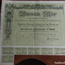 Coleccionismo Acciones Españolas: ACCIÓN BANCA MIR 1922 BARCELONA. Lote 245568140