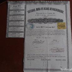 Coleccionismo Acciones Españolas: OBLIGACIÓN SOCIEDAD MINA DE AGUAS DE VALLVIDRERA 1865 BARCELONA. Lote 245568535