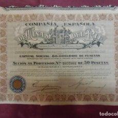Collezionismo Azioni Spagnole: ACCION COMPAÑIA ESPAÑOLA DE MINAS DEL RIF.MADRID. 1/12/1935.. Lote 252992365