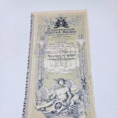 Collezionismo Azioni Spagnole: ANTIGUO TÍTULO DE ACCIONES COMPAÑÍA ELECTRA MADRID 1914. Lote 253408935
