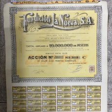 Coleccionismo Acciones Españolas: ACCIONES DE FUNDICION LA NUEVA S.A. GIJON - ASTURIAS. 1962.. Lote 254355185