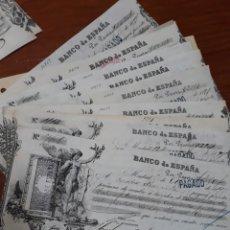 Coleccionismo Acciones Españolas: 14 LETRAS DEL BANCO ESPAÑA 1897 Y 1899. Lote 254360295