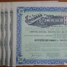Coleccionismo Acciones Españolas: LOTE 10 ACCIONES DE COMERCIAL DE HIERROS. MADRID. 1947.. Lote 254371980