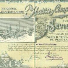 Colecionismo Ações Espanholas: ACCION YBARRA Y COMPAÑIA DE 1.952 (REBAJADA ANTES 36 €). Lote 258091830