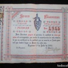 Coleccionismo Acciones Españolas: FIGUERAS-SPORT FIGUERENSE-ACCION ANTIGUA-1 DE JULIO 1892-VER FOTOS-(K-2700). Lote 261122665