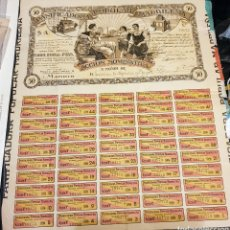 Coleccionismo Acciones Españolas: ACCION PANIFICADORA POPULAR MADRILEÑA. MADRID 1 DE DICIEMBRE DE 1916 PANIFICADORA POPULAR MADRILEÑA.. Lote 261880705