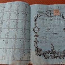 Colecionismo Ações Espanholas: ACCIÓN CRÉDITO CASTELLANO, 1862, CON CUPONES, RARA Y DIFÍCIL, ORIGINAL, VED FOTOS. Lote 262030250
