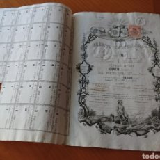 Colecionismo Ações Espanholas: ACCIÓN CRÉDITO CASTELLANO, 1862, CON CUPONES Y ORIGINAL, BUEN ESTADO, VED FOTOS, VALLADOLID. Lote 262781365