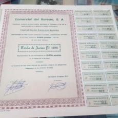 Coleccionismo Acciones Españolas: ANTIGUA ACCION COMERCIAL DEL SURESTE SA CARTAGENA MURCIA 1971. Lote 262900605